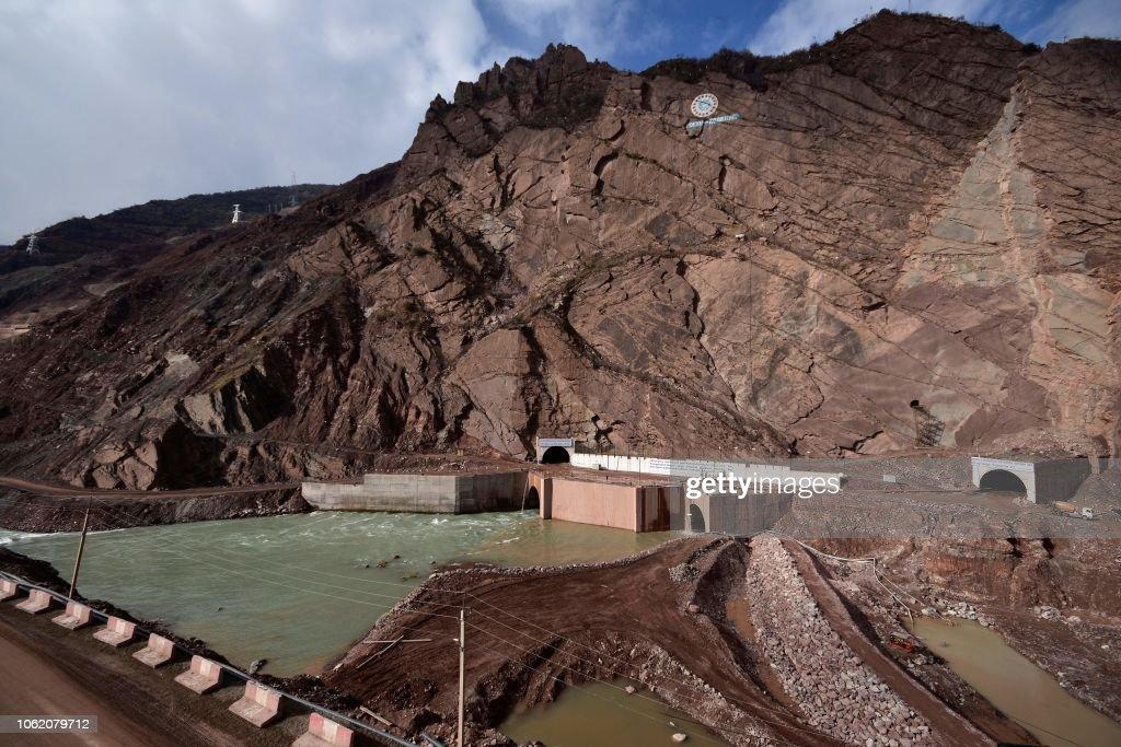 TAJIKISTAN-AFGANISTAN-PAKISTAN-ENERGY-ROGUN-DAM : News Photo