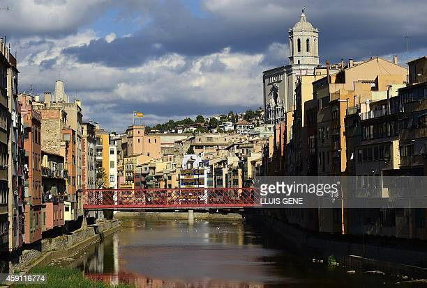 A picture taken on November 15 2014 shows a general view of Girona The Catalan government said on November 11 a total of 23 million people had taken...