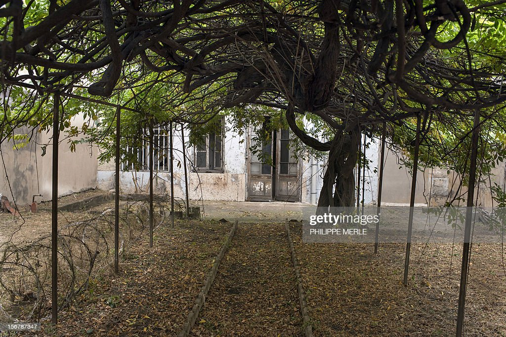 MALLE - A picture taken on November 16, 2012 shows a yard in the former Saint-Joseph prison in Lyon. The old prison situated in the center of Lyon will become a building complex in a few months, an original initiative in France where the old prisons are generally destroyed.