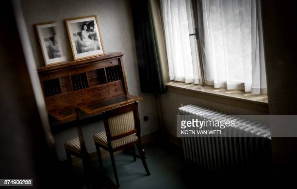 A picture taken on November 16 2017 shows the room of Anne Frank in her former house in the Rivierenbuurt in Amsterdam The Ymere housing association...
