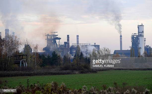 Picture taken on November 17 2012 shows the biggest steel company in Slovakia the US Steel Kosice in Kosice The United States Steel Corporation's...