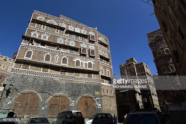 A picture taken on November 17 2015 shows old buildings in the historical quarter of the Yemeni capital Sanaa which is currently listed as one of the...