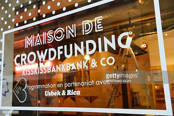 A picture taken on November 17 2016 shows the headquarters of the crowdfunding platform KissKissBankBank in Paris / AFP / BERTRAND GUAY