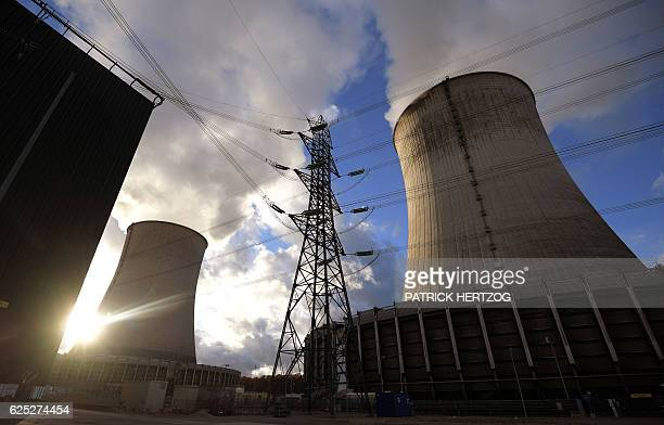 A picture taken on November 18 2016 shows the nuclear power plant in Cattenom eastern France The Cattenom nuclear power plant undergoes renovation...