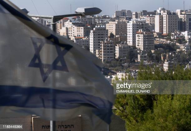 A picture taken on November 19 2019 from the Israeli settlement of Psagot shows a partial view of the Palestinian West Bank city of Ramallah Psagot...