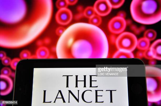 A picture taken on November 20 2017 shows the logo of British peerreviewed general medical journal The Lancet displayed on a computer's screen