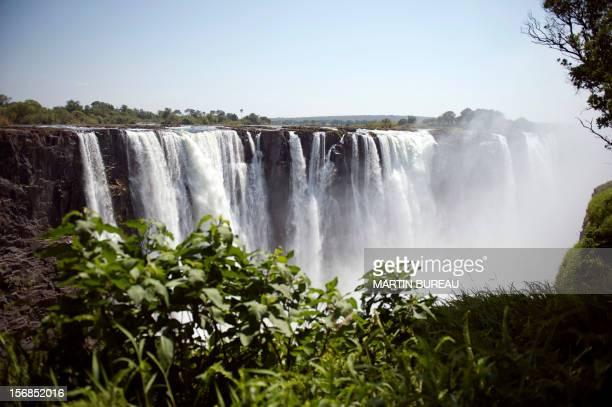 Picture taken on November 20 shows the Victoria Falls in Zimbabwe. AFP PHOTO MARTIN BUREAU / AFP PHOTO / MARTIN BUREAU