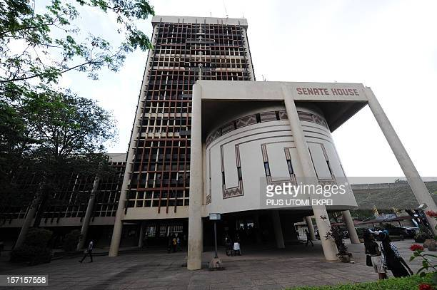 A picture taken on November 21 2012 shows the Senate building at the University of Lagos The University of Lagos aka Unilag founded in 1962 is a...