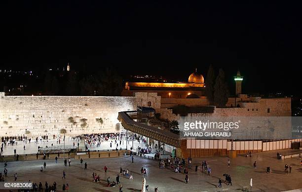 A picture taken on November 21 2016 shows the AlAqsa Mosque compound and the Western Wall in Jerusalem's Old City A bill backed by Prime Minister...