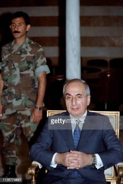 6c4f9f504f5 Picture taken on November 22 1989 shows Lebanese President Rene Moawad