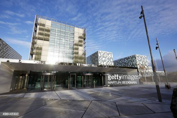 A picture taken on November 23 2015 shows the new building of the International Criminal Court in The Hague The Netherlands AFP PHOTO / ANP / MARTIJN...