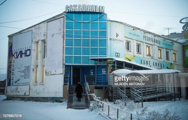 A picture taken on November 29 2018 shows the office of Sakhafilm Yakutia's main film production company in Yakutsk In Russia's remote Yakutia region...