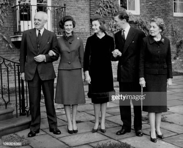 Picture taken on November 30 1962 at London showing Princess Alexandra the cousin of Queen Elizabeth II with Angus Ogilvy her fiancé together whith...