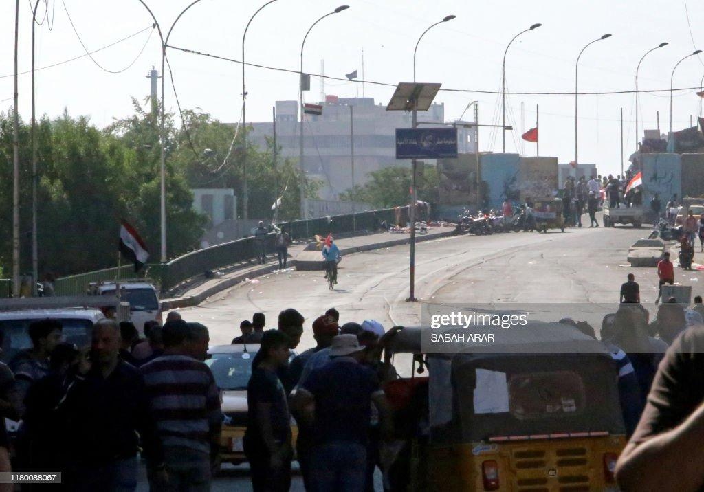 IRAQ-POLITICS-DEMO : Foto di attualità