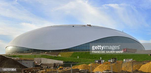 A picture taken on November 6 2012 shows the newly constructed Bolshoi ice dome in Sochi which will be home to the ice hockey tournament at the 2014...