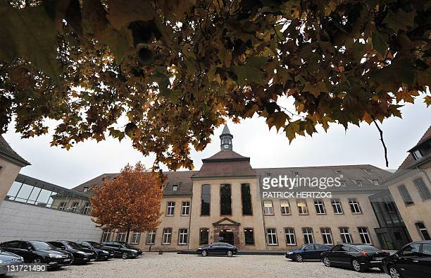 A picture taken on November 7 2011 in Strasbourg eastern France shows the courtyard of the Ecole Nationale d'Administration which inaugurated today a...