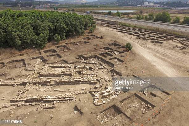 A picture taken on October 06 shows a general view of a temple complex at the arachaeological site of En Esur where a 5000yearold city was uncovered...