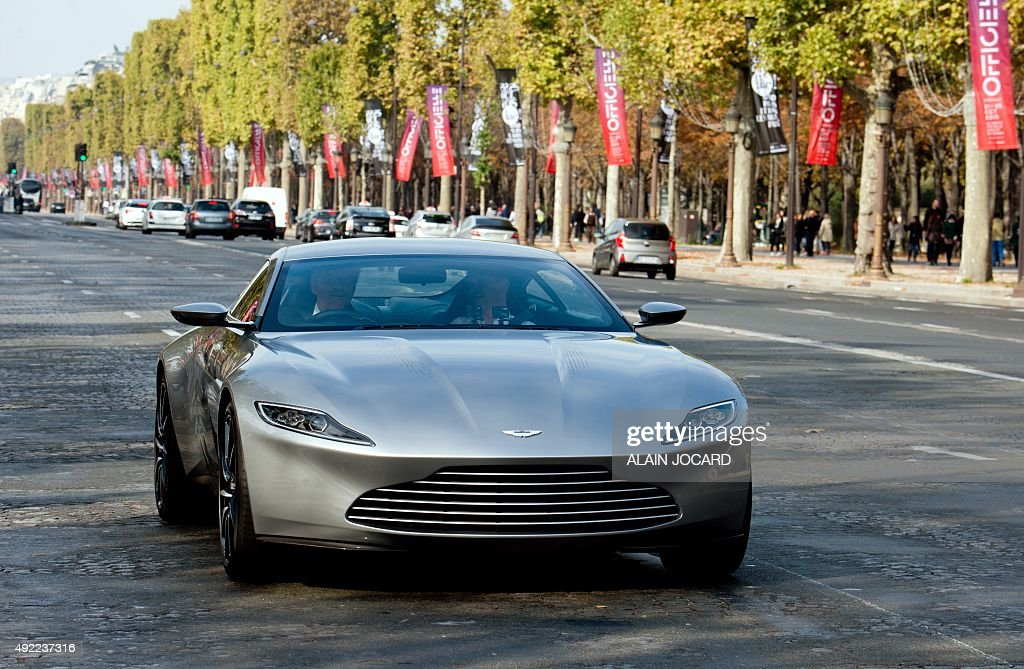A Picture Taken On October 11 2015 Shows The Aston Martin Db10 The