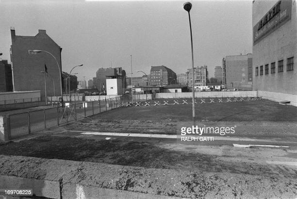 Picture taken on October 13 1976 of the no man's land near the famous Checkpoint Charlie crossing point marking the border between East and West...