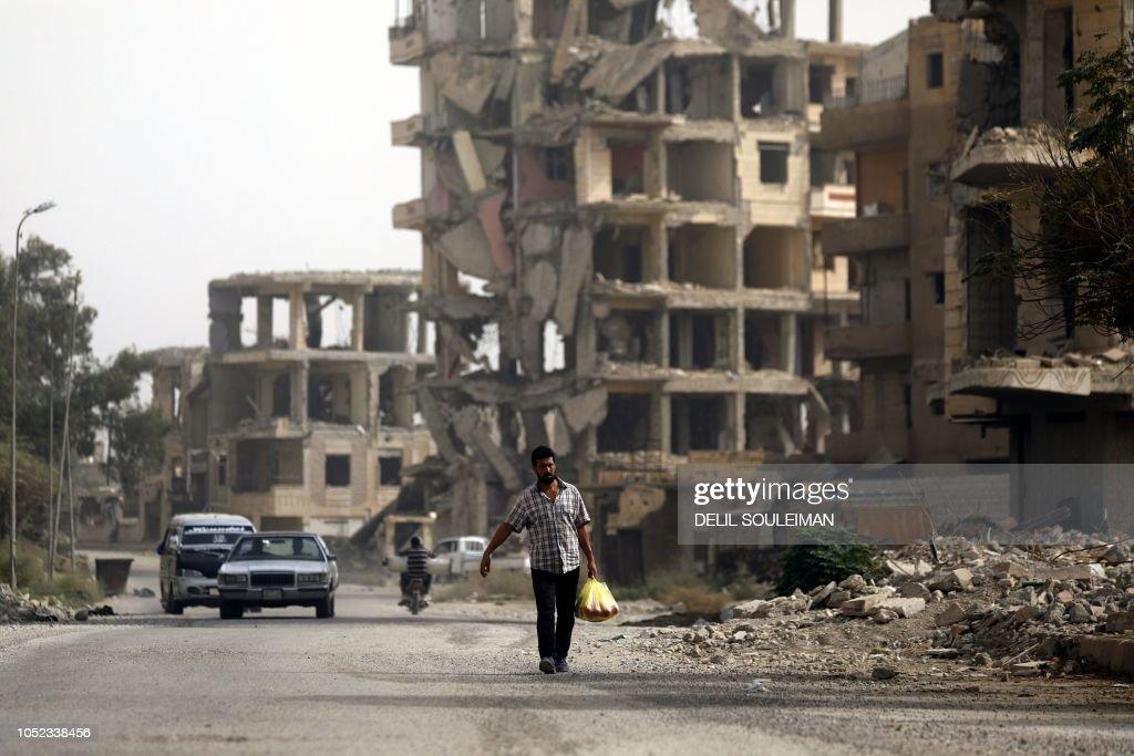 SYRIA-CONFLICT-RAQA : News Photo