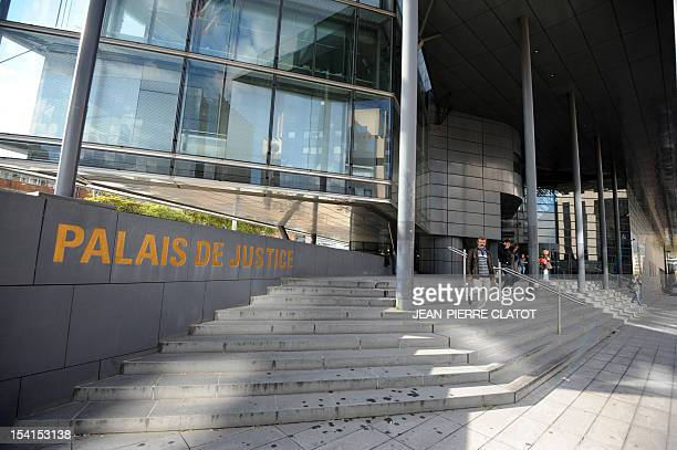 A picture taken on October 15 shows the entrance of the court house in Grenoble French Alps before the trial of Denize Soares a Brazilian woman...