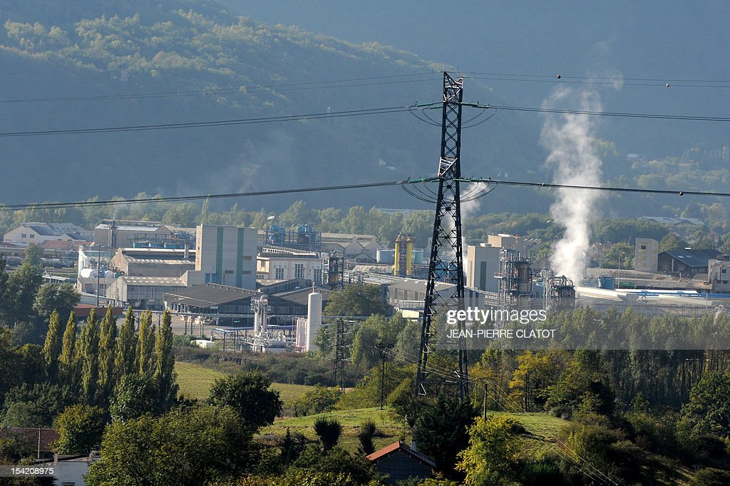 A picture taken on October 16, 2012 in Jarrie, southeastern France shows the Jarrie site of CEZUS, an AREVA group subsidiary and a global leader in the market for nuclear-grade zirconium. Zirconium is a metal used for fuel cladding, among other applications. The CEZUS Jarrie plant site produces zirconium sponge through a series of chemical operations and extractive metallurgy. It also recovers the by-products of zirconium manufacturing , such as hafnium, magnesium and silicon salts and oxides.
