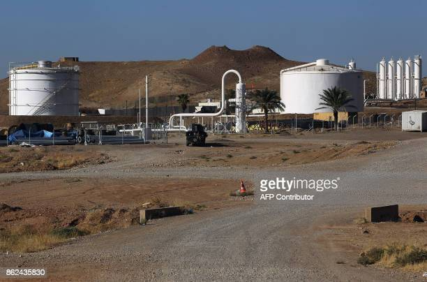A picture taken on October 17 2017 shows the Havana oil field west of the multiethnic northern Iraqi city of Kirkuk Iraqi forces took control of the...