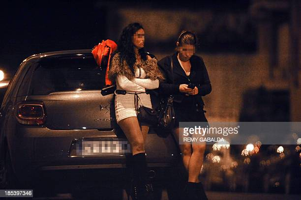 A picture taken on October 19 2013 shows prostitute near the Canal du Midi in Toulouse southwestern France AFP PHOTO / REMY GABALDA