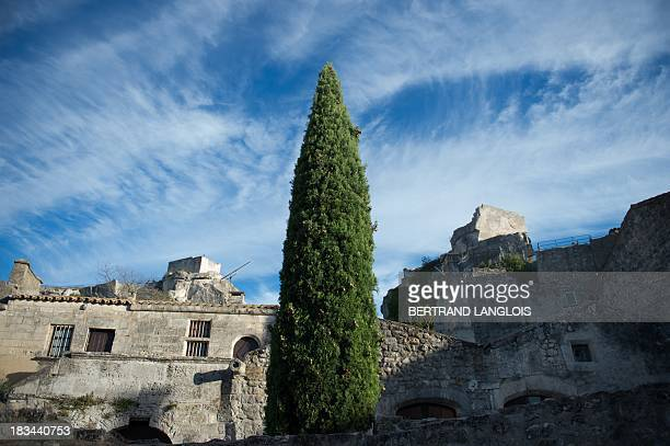 Picture taken on October 2, 2013 shows a part of the village of Baux-de-Provence, classified as one of the Most beautiful Villages in France. AFP...