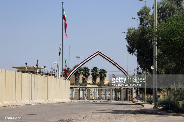 A picture taken on October 2 shows the Khosrawi border crossing between Iraq and Iran also known as the Munthriya border crossing in the Diyala...