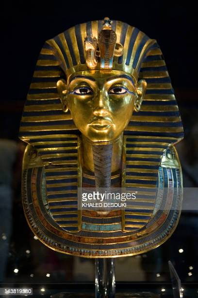 Picture taken on October 20, 2009 shows King Tutankhamun's golden mask displayed at the Egyptian museum in Cairo. DNA testing has unraveled some of...