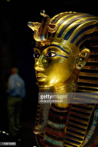 A picture taken on October 20 2009 shows King Tutankhamun's golden mask displayed at the Egyptian museum in Cairo AFP PHOTO/KHALED DESOUKI / AFP...