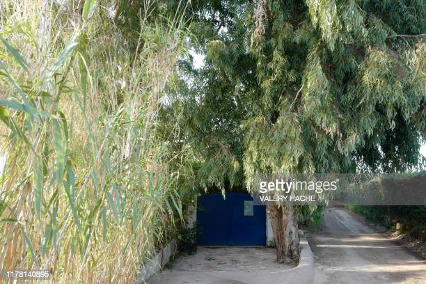 A picture taken on October 25 2019 shows the entrance of La Madrague house property of French actress Brigitte Bardot in SaintTropez southeastern...
