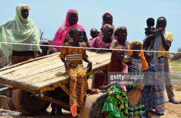 A picture taken on September 10 shows Nigerian refugees at a UN camp for refugees and internally displaced persons in NGagam some 50km from Diffa...