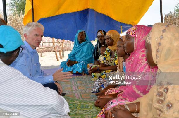 A picture taken on September 10 shows United Nations UnderSecretaryGeneral for Humanitarian Affairs and Emergency Relief Coordinator Mark Lowcock...