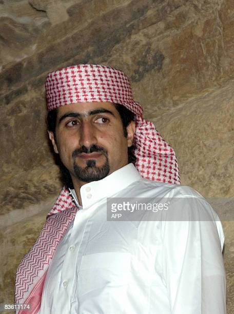 A picture taken on September 11 2008 shows Omar bin Laden the fourth son of Osama bin laden during a dinner that he and his British wife Zaina hosted...