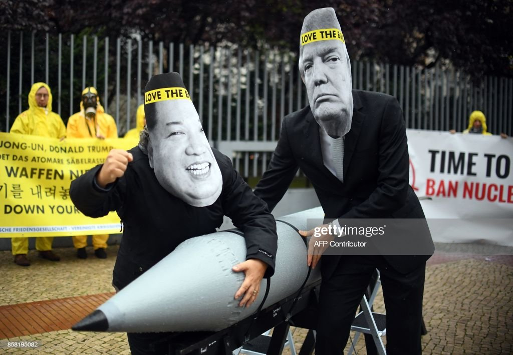 There are 9 countries with nuclear weapons and they have approximately 16k between them, nearly 15k of those are held by the USA and Russia