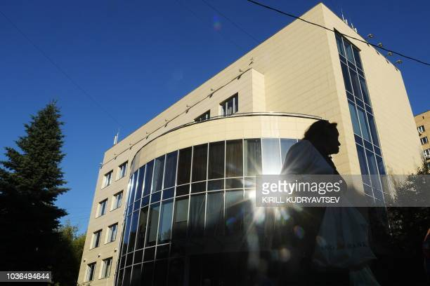 Picture taken on September 20, 2018 shows the RUSADA building in Moscow. - The World Anti-Doping Agency on September 20, 2018 lifted a ban on...