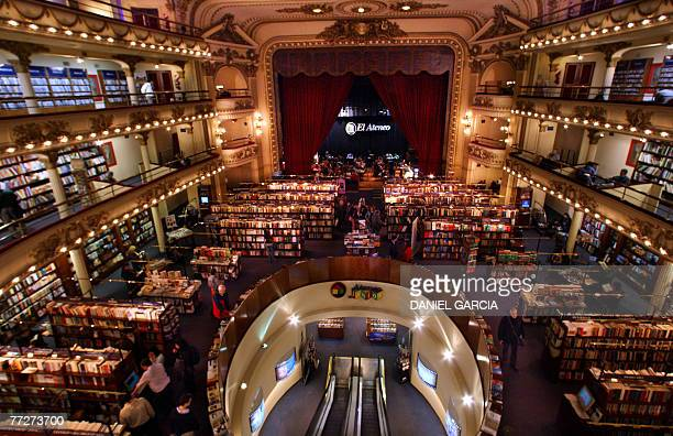 Picture taken on September 2007 showing El Ateneo bookstore in the Barrio Norte neighborhood in Buenos Aires El Ateneo presently occupies the...