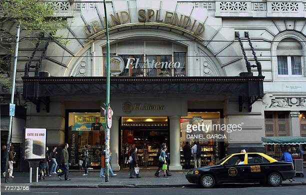 Picture taken on September 2007 showing the main entrance of El Ateneo bookstore in the Barrio Norte neighborhood in Buenos Aires El Ateneo presently...