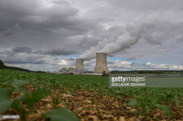 Picture taken on September 22, 2015 shows the Civaux Nuclear Power Plant at the edge of Vienne River between Confolens and Chauvigny, and 34 km...