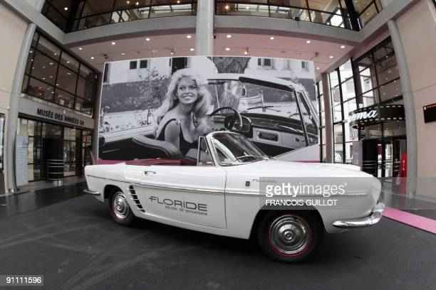 A picture taken on September 24 2009 at the MA30 Espace Landowski museum in BoulogneBillancourt west of Paris shows the original car of French star...
