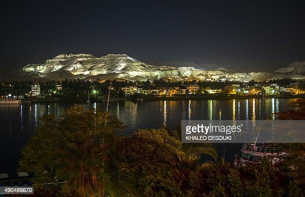 A picture taken on September 28 2015 from the East Bank of the Nile River shows the hills of the Valley of the Kings in the West Bank of Luxor 500...