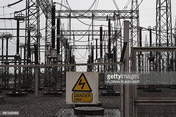 A picture taken on September 29 2015 shows an electric transformer at the Afam VI power plant in Port Harcourt on September 29 2015 Afam VI power...