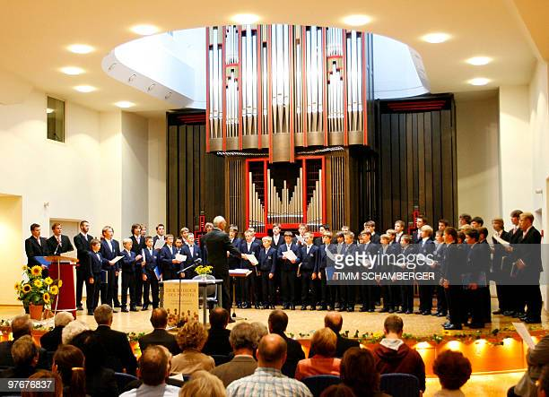 FILES Picture taken on September 4 2007 shows the famed Domspatzen choir performing in the southern German city of Regensburg during the presentation...