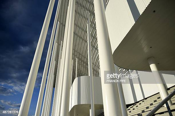 A picture taken on September 6 2015 shows a partial view of the Matmut Atlantique stadium inaugurated as Nouveau stade de Bordeaux in Bordeaux on the...