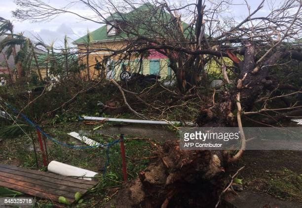 A picture taken on September 6 shows damage in Gustavia on the French Caribbean island of SaintBarthelemy after it was hit by Hurricane Irma At least...