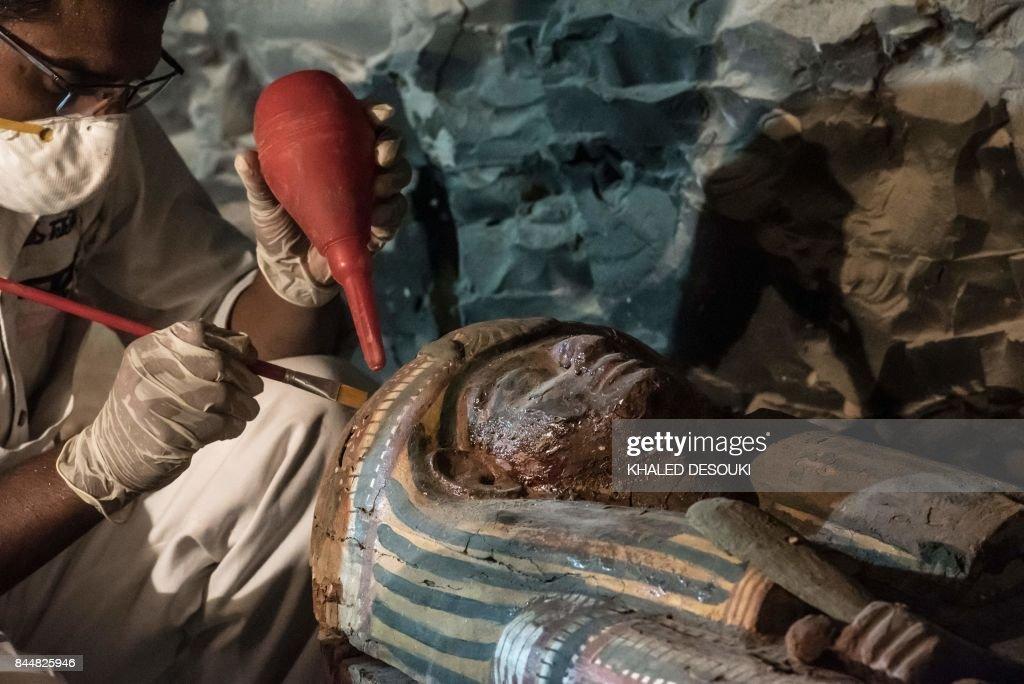TOPSHOT-EGYPT-ARCHAEOLOGY-LUXOR : News Photo