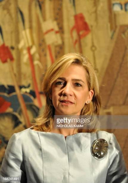 A picture taken oon September 13 2011 shows Infanta Cristina of Spain attending a preview of the the exhibition The Invention of Glory Alfonso V and...