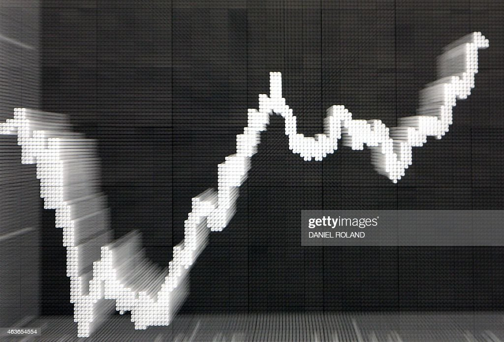 A picture taken with a zoom-in effect shows the German Stock